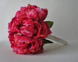 pink bouquet hot pink bouquet etsy