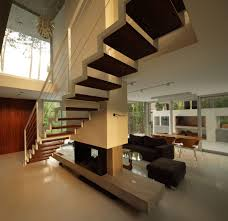modern concrete house in carilo argentina contemporary stairs fireplace modern concrete house in carilo argentina