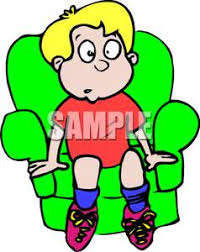 Clipart Armchair Cartoon Boy Sitting In An Armchair Clipart Picture