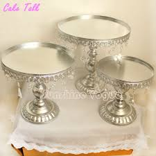 cake stands cheap metal iron silver cake stand set 8 10 12 pendant charm cake