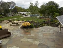 Patio Flagstone Designs Flagstone Patio Pictures Gallery Landscaping Network