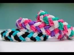 bracelet looms double images Rainbow loom double braid bracelet armband loom bands jpg