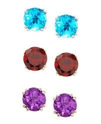 amethyst stud earrings 14k gold amethyst stud earrings 3 1 2 ct t w jewelry