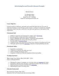 Account Management Resume Advertising Account Manager Resume Example Augustais