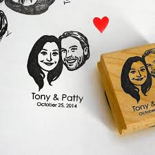 personalized gifts for couple custom portraits stamps self ink