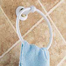 white towel ring circle fashion bathroom hardware accessories