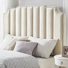 white nailhead headboard chareau velvet upholstered nailhead headboard by inspire q bold