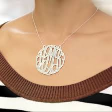 2 inch monogram necklace 2 inch monogram necklace the necklace