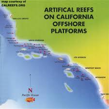 Map Southern California California Offshore Oil Rig Map