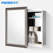 Bathroom Mirror With Storage by Gedy Stainless Steel Bathroom Cabinet With Sliding Mirror Door