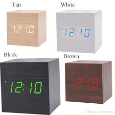2017 usb aaa powered cube led digital alarm clock square modern