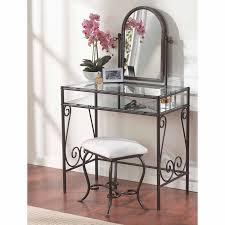 Vanity Bedroom Clarisse Metal Bedroom Vanity Set Hayneedle