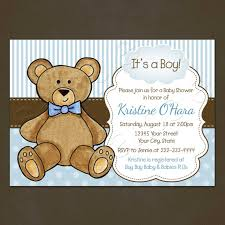 teddy baby shower invitations teddy baby shower invitation printable file blue polka dots