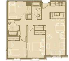 3 Bedroom Garage Apartment Floor Plans Floor Plan For A Small House 1 150 Sf With 3 Bedrooms And 2 Baths