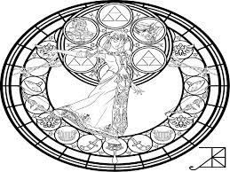 christmas stained glass window free coloring pages on art