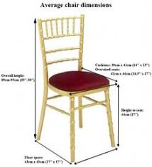 standard banquet chair dimensions for later reference www