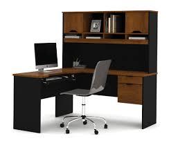 l shaped computer desk canada bestar innova tuscany brown l shaped computer desk 92420 63