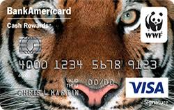 world wildlife fund credit card from bank of america