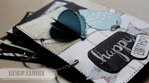 tutorial scrapbook card diy cutest birthday scrapbook card idea easy card idea