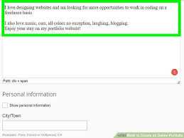 Create An Online Resume by 3 Ways To Create An Online Portfolio Wikihow