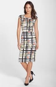 eci print scuba keyhole midi sheath dress available at nordstrom