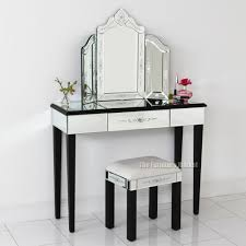 Dressing Table Set Fancy Black Mirrored Dressing Table Set About 11828 Homedessign Com
