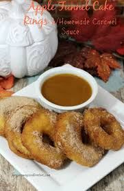 apple funnel cake rings w homemade caramel sauce recipe