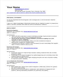 Sample Electronics Engineer Resume by 47 Engineering Resume Samples Free U0026 Premium Templates