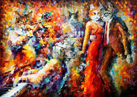 cat club u2014 palette knife oil painting on canvas by leonid afremov