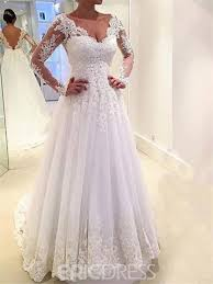 a line wedding dresses ericdress sleeves a line wedding dress 11611056 ericdress