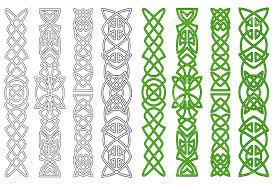 green celtic ornaments and elements for embellishments