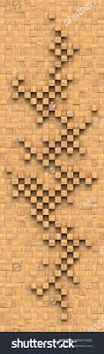 decorative panels on wall square wooden stock illustration