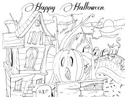 Free Halloween Activities Printable by Halloween Coloring Pages Printables Haunted House Printable