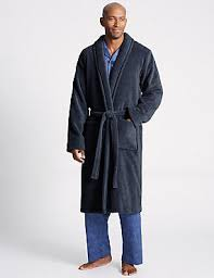 mens bathrobes towelling u0026 dressing gowns m u0026s