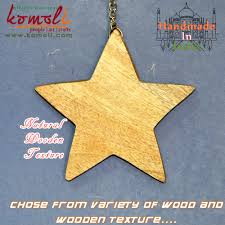 natural texture wooden craft shapes wood cutouts christmas star