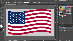 The America Flag How To Draw The American Flag In Adobe Illustrator Youtube