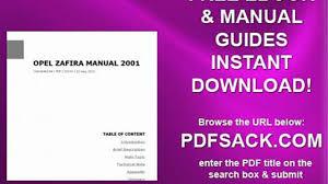 opel zafira manual 2001 video dailymotion