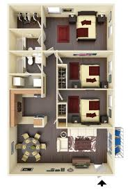 Breeze House Floor Plan Muncie Townhomes For Rent Near Ball State Linden Place 3 Bedroom
