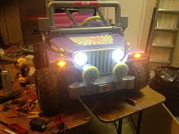 purple barbie jeep first mods daughters barbie jammin jeep modifiedpowerwheels com