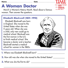 Tlsbooks English Worksheets A Woman Doctor English Worksheets Ks2 Free Printable Women S