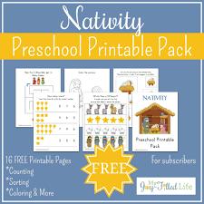 free printable nativity preschool pack my joy filled life