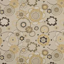 Indoor Outdoor Fabric For Upholstery Gold Gray And Tan Floral Indoor Outdoor Upholstery Fabric By The