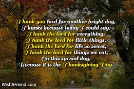 thank you lord for another bright thanksgiving prayers