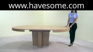 Round Extendable Dining Table Round Extendable Dining Table Youtube