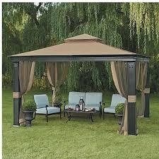 patio gazebo 10 x 12 10 x 12 fremont patio gazebo with mosquito netting u2022 1 065 00