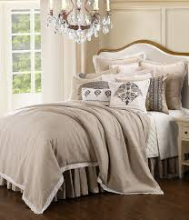 hiend accents charlotte linen and lace comforter set dillards
