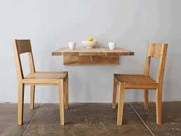 Sturdy Table Small Kitchen Table Black Stained Wooden Natural Feel Table Circle