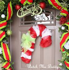 watch me daddy mesh candy cane wreath holidays celebrate