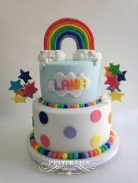 rainbow ruffle cake with rainbow sprinkling stars cakes ruffles