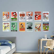 mickey sports wall decals color the walls of your house mickey sports wall decals fathead mickey mouse vintage poster wall mural wall decals at